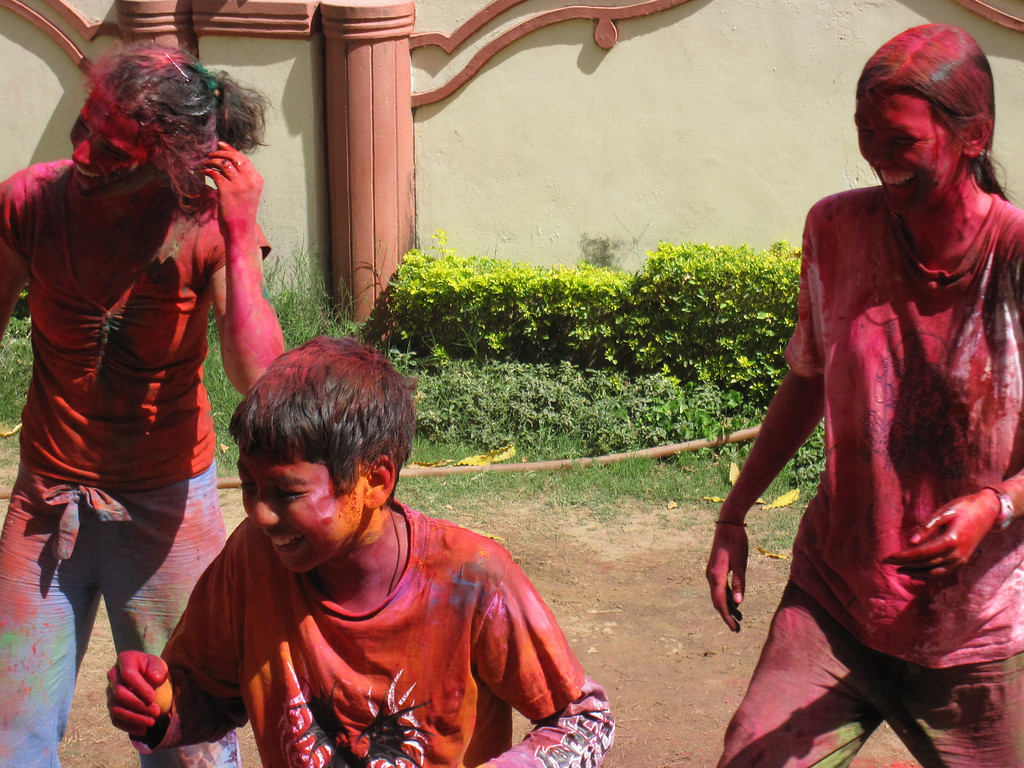 Celebrating the festival of colors in India