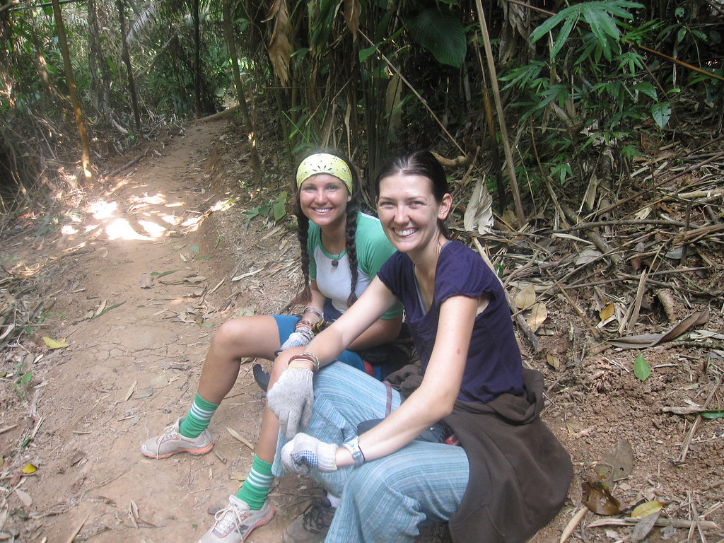 hiking in northern laos