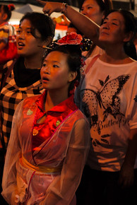 Amazed by the dragon performance at the Chinese New Year festivities in Chiang Mai, Thailand.