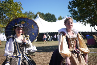 The Queen and Lady-in-Waiting at the Lady of the Lakes Renaissance Festival, Orlando, Florida