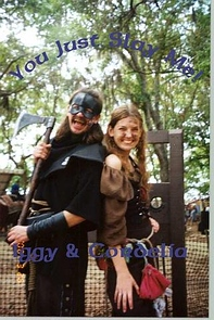 Me and my Faire Father, the Executioner, at the Bay Area Renaissance Festival in 2000.